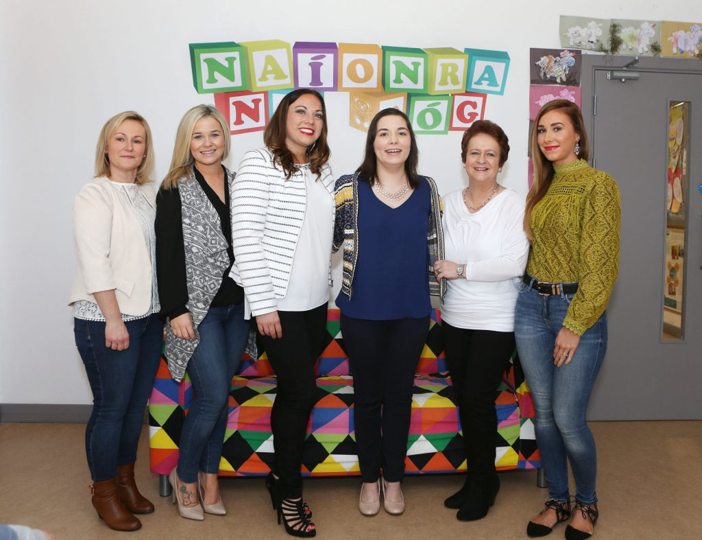 22/3/2016. Pictured at the official opening of Naionra na nOg, Shannonvale, Old Cratloe road were Edel Lavin, Sarah McGee, Yvonne O'Sullivan, Sarah Darcy, Ber O'Loughlin and Clara O'Dwyer. Photograph Liam Burke/Press 22